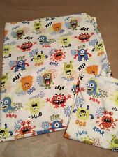 Halloween Monster Polyester Twin Flat Sheet And Pillowcase Fabric Crafts