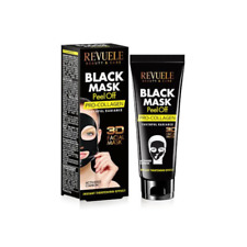 REVUELE 3D BLACK MASK Peel Off PRO–COLLAGEN Activated Carbon Vitamin C 80ml