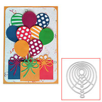 6PCS Balloons Metal Cutting Dies Stencil Die Cut Scrapbooking DIY Craft Stamp