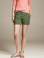 Brand NEW Banana Republic Women's Roll-Up Shorts Color Green Size 4