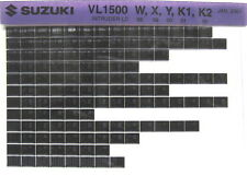 Suzuki VL1500 Intruder LC 1998 1999 2000 2001 2002 Parts Catalog Microfiche s469