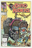 Dino Riders #1 (Marvel 1989) Dinosaurs - Cartoon TV Series - Don Perlin Cover