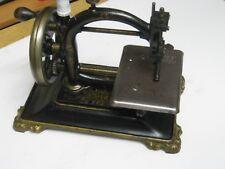ANTIQUE CAST IRON HAND CRANK SEWING MACHINE,