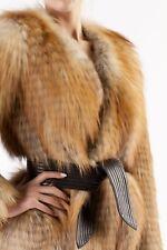 BALMAIN manga larga chaqueta de piel de FOX-FR 36 Reino Unido 8