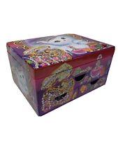 Lisa Frank Inspired trinket box 90\u2019s inspired ready to ship | jewelry box Repurposed Resin Small Coffin Box