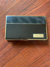 Two tone metal business card holder - spot to engrave initials lower right