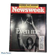"NEWSWEEK November 18,1991-""Even Me"" Magic Johnson E06"