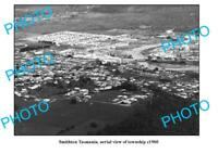 OLD 8x6 PHOTO FEATURING SMITHTON TASMANIA AERIAL VIEW OF TOWNSHIP c1960