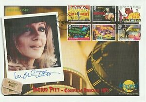 19 JUNE 2008 CLASSIC CARRY ON HAMMER FILMS FDC HAND SIGNED BY ACTOR INGRID PITT