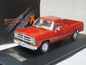 Dodge Ram Pick up Truck 1987 red 1/43 Premium X PRD259