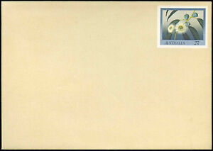 Australia 27c Flowers Pre-Paid Envolope Cover Unused #C18726