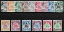 Malaya Negeri Sembilan Scott #38-41, 43-44, 46 & 48-49, Singles 1949 FVF MH
