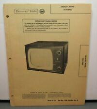 SAMS PHOTOFACT SERVICE MANUAL 104-6 CROSLEY TV MODEL 10-419MU