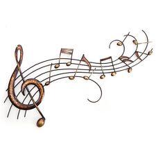 Onda grandes notas musicales contemporáneas. de Arte para Decoración de Pared Metal Oro