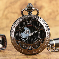Black Jack Skellington The Nightmare Before Christmas Quartz Pocket Watch Chain