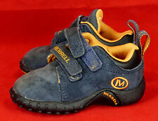 402 Merrell Sprint Jr Navy  shoes sneakers infant baby boy girl leather EUC 4