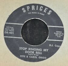 HEAR IT OBSCURE COUNTRY Pete & Carol Grigg SPRICES 401 Oh Why Pretend and Stop
