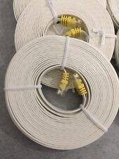 LOT DE 20 CABLE RESEAU ETHERNET  PLAT CAT 6 RJ45 BLANC