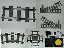 Lego 9V Eisenbahn TRAIN 4548 4520 4515 4531 Gebogene Gerade Schienen Weichen