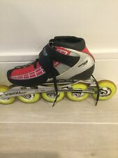 Powerslide C4 Carbon Vision Inline Skates 5 Wheels Us Womens 9 Or 41 Red /black