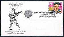 1993 Elvis Presley First Day Cover FDC Richard Nixon Library Cancellation