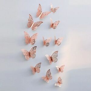 3D 12Pcs Butterfly Wall Sticker Decal DIY Kids Rooms Party Vinyl Home Decoration