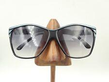 Vintage Solargenics Black Blue Brow Square Oversized Sunglasses Frames Italy