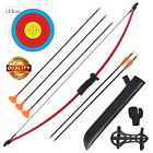 """36.5"""" Bow and Arrow Set for Kids Archery Beginner Gift Recurve Bow Kit 10LBS"""