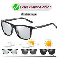 Sunglasses Men Photochromic HD Polarized Driving Glasses outdoor Square glassess