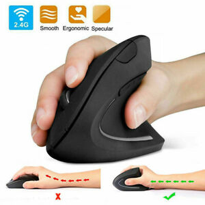 UK 2.4GHz Ergonomic Wireless Vertical Optical Mouse For PC Laptop Computer +USB