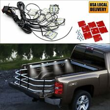 8x Waterproof Pickup Truck Bed Light Kit LED Lighting White For Silverado Tundra