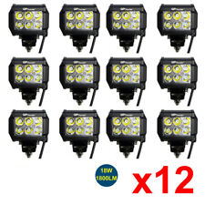 12pcs 4inch Off Road 18W LED Fog Lamp Work Light Bar SUV For 4WD Truck DRL