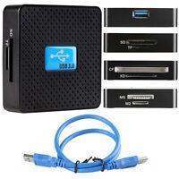 USB 3.0 6-in-1 Cardreader Kartenlesegerät Kartenleser SD TF CF SDXC MS M2 XD