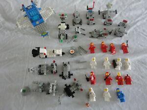 ANCIEN Lego System ESPACE SPACE ASTRONAUT X 14 Minifigure VAISSEAU ENGIN Vintage