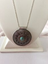 $39.50 Lucky Brand Large Turquoise Pendant Necklace O135