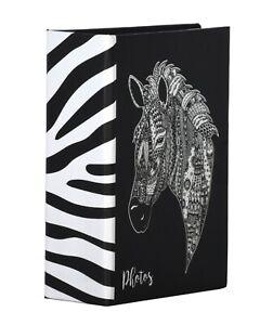 Zen Zebra 6'' x 4'' Slipin Photo Album Hold 120 Photos Photography Storage