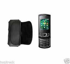 BLACK FAUX LEATHER MOBILE BELT FITS POUCH Samsung E2550
