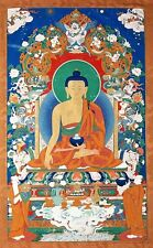 ANCIENT BUDDHA Buddism Art Poster Giclee CANVAS PRINT 24x36 in.