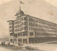Hotel Monticello Atlantic City NJ auto Ekholm Victorian Advertising Trade Card