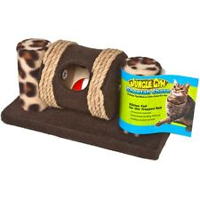 JUNGLE GYM CHEETAH CHASE CAT TOY WITH TRAPPED BALL ROLLING SCRATCH SURFACE POST