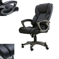 Adjustable Office Chair Executive Leather Modern Comfort Style High Back Black