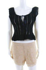Free People Womens Casual Eyelet Shorts Shirts Blouses Tops Size 4 8 Lot 2