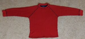 Faded Glory Vintage Wash 1972 brand Sz S (6-7) Boys red Thermal Long Sleeve Tee
