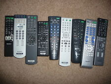 Various Original Sony TV/Audio/DVD/PC Remote Controls