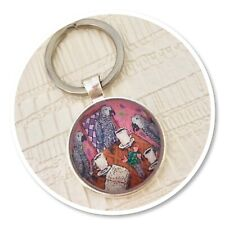 African grey parrot parrots keyring key ring bird