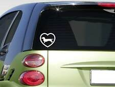 Heart Dachshund *F361* sticker decal doxie weiner dog