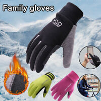 Men Women Kids Winter Gloves Thermal Cold Weather Outdoors Running Family Gloves