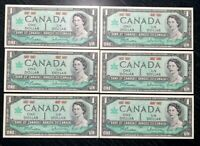 1967 6x $1 BANK OF CANADA 100th Ann. CONFEDERATION - UNC+ COND!