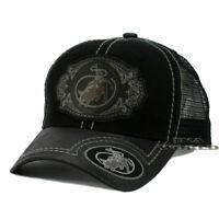 RODEO COWBOY Hat Western Style Trucker Mesh Back Snapback Baseball Cap- Black
