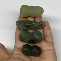 """135.3g, 1.4""""-2.1"""" 4pcs, Prehnite With Epidote Inclusion Mineral Specimen, B7062"""